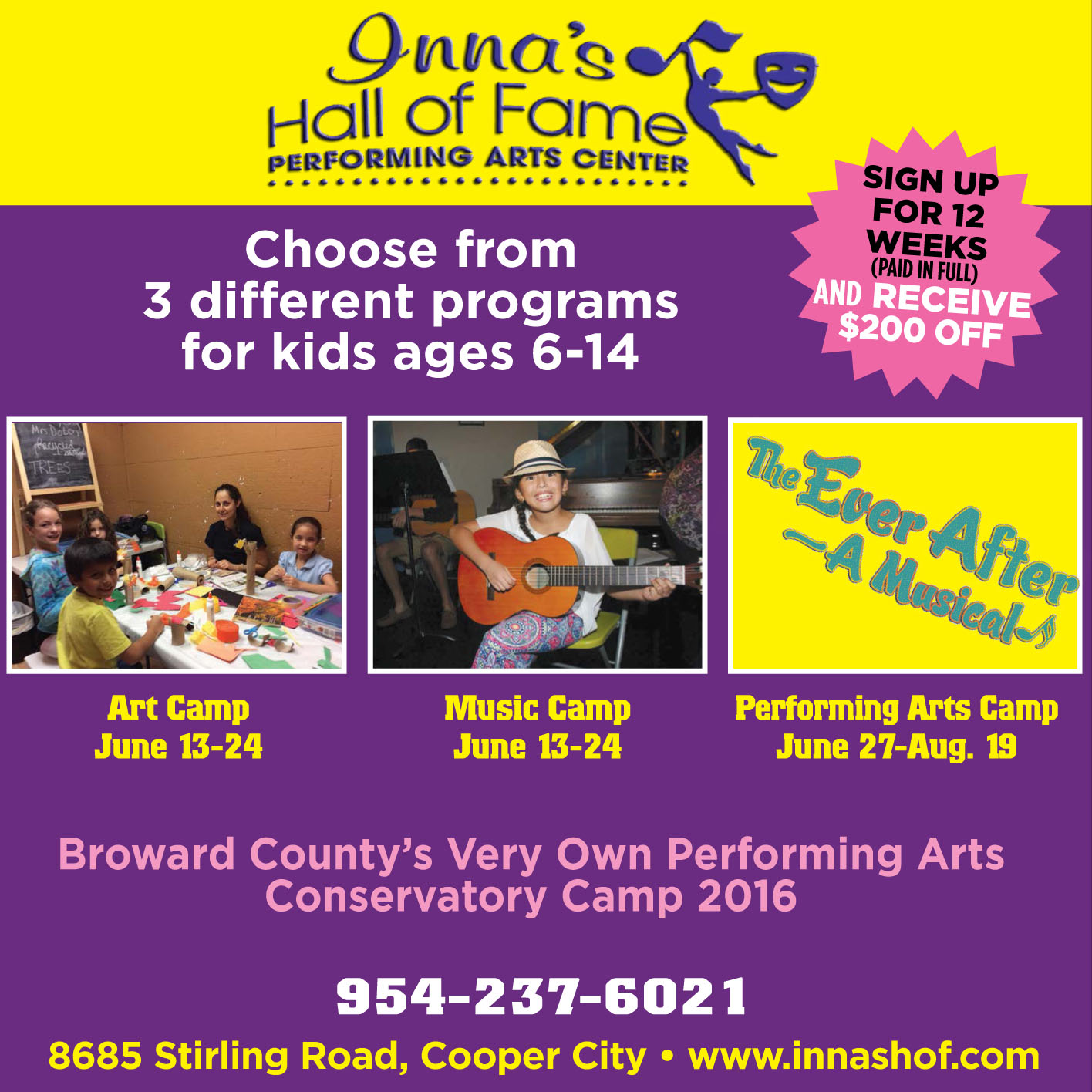 Summer Camp at Inna's Hall of Fame Performing Arts